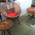 Stoel Veris, ontwerp door team Rohé. Geïnspireerd op ontwerpen van Franco Albini.