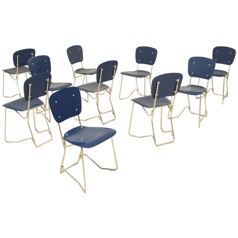 Aluflex stoelen van Armin Wirth. Te koop bij Bloomberry. Prijs op aanvraag.